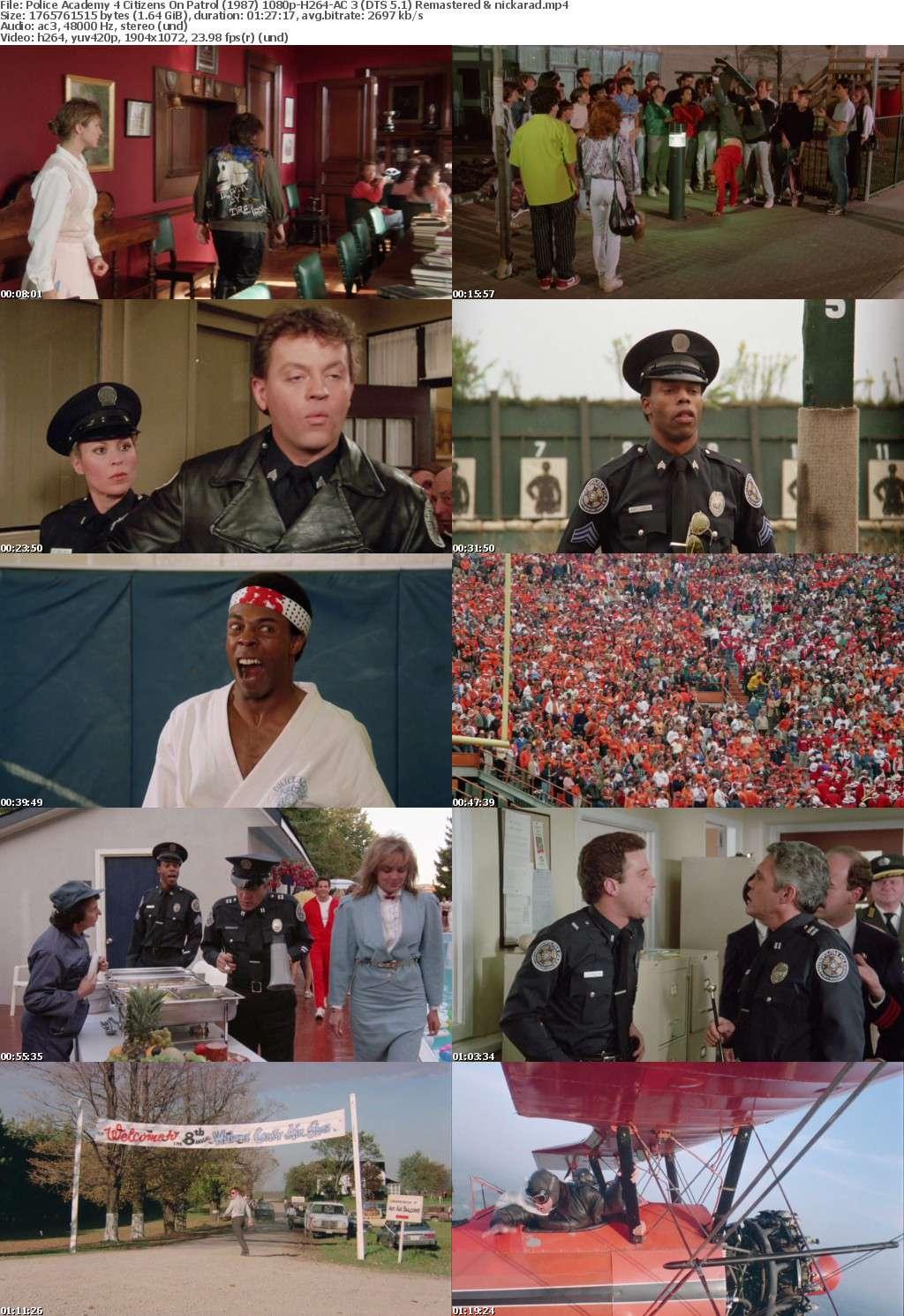 Police Academy 4 Citizens On Patrol (1987) 1080p BluRay H264 AC 3 Remastered-nickarad