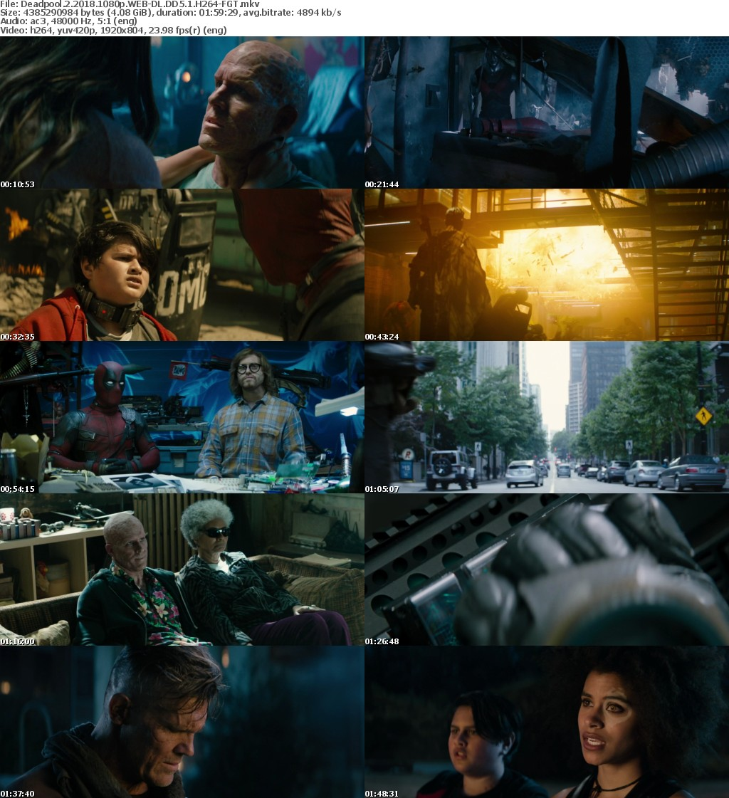 Deadpool 2 2018 1080p WEB-DL DD5 1 H264-FGT