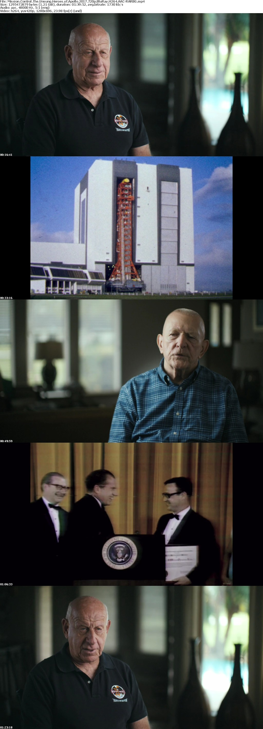 Mission Control The Unsung Heroes of Apollo 2017 720p BluRay H264 AAC-RARBG