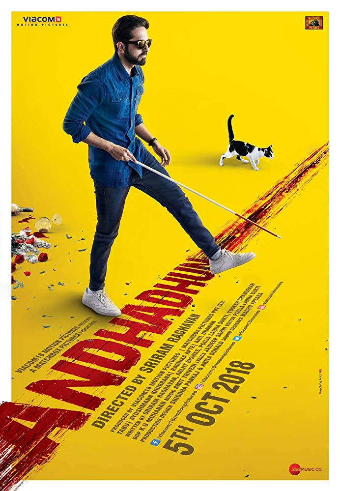Andhadhun 2018 Hindi 1080p BluRay DD 5 1 x264 ESub [MW]