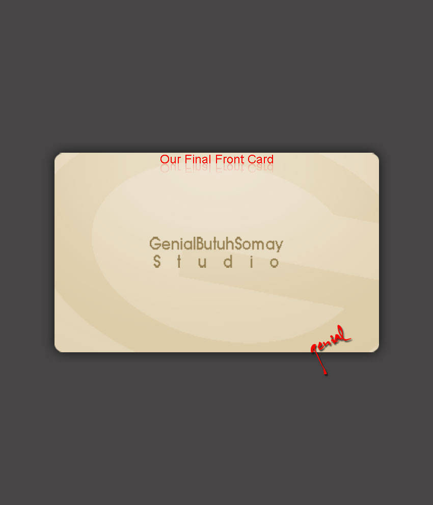 Simple Business Card in Photoshop