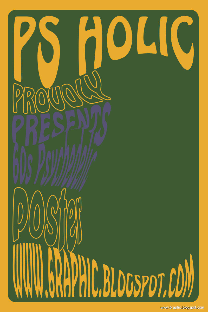 How to create a 60s Psychedelic Poster