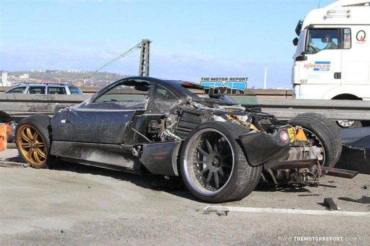 Wypadki najdroższych samochodów 2