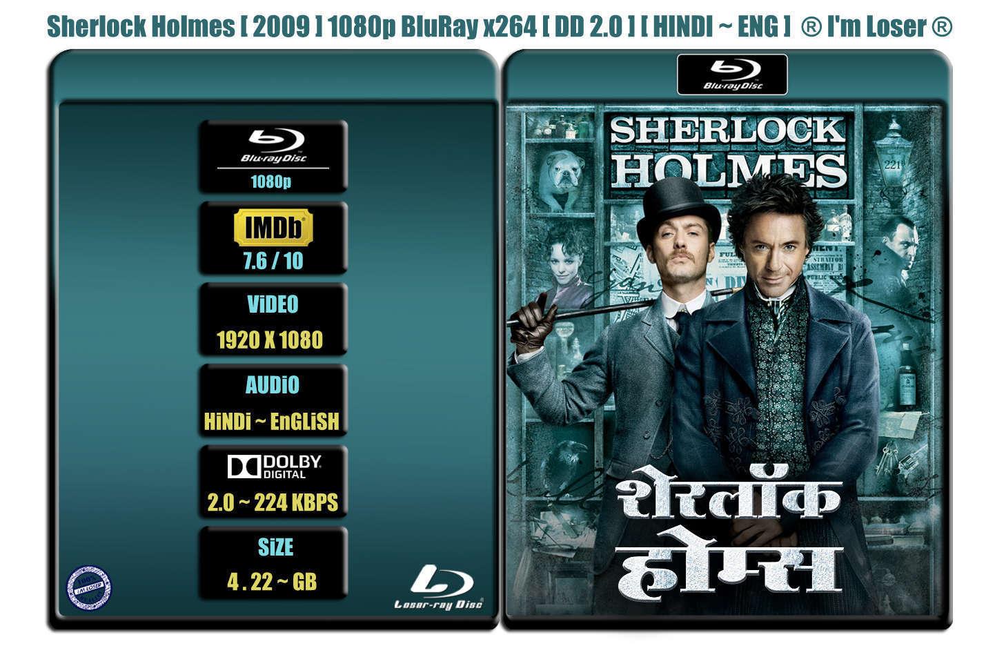 Sherlock Holmes [2009] 1080p BluRay x264 [DD 2.0] [HINDI - ENG ...