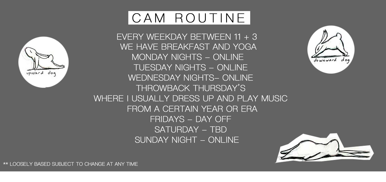 cam schedual