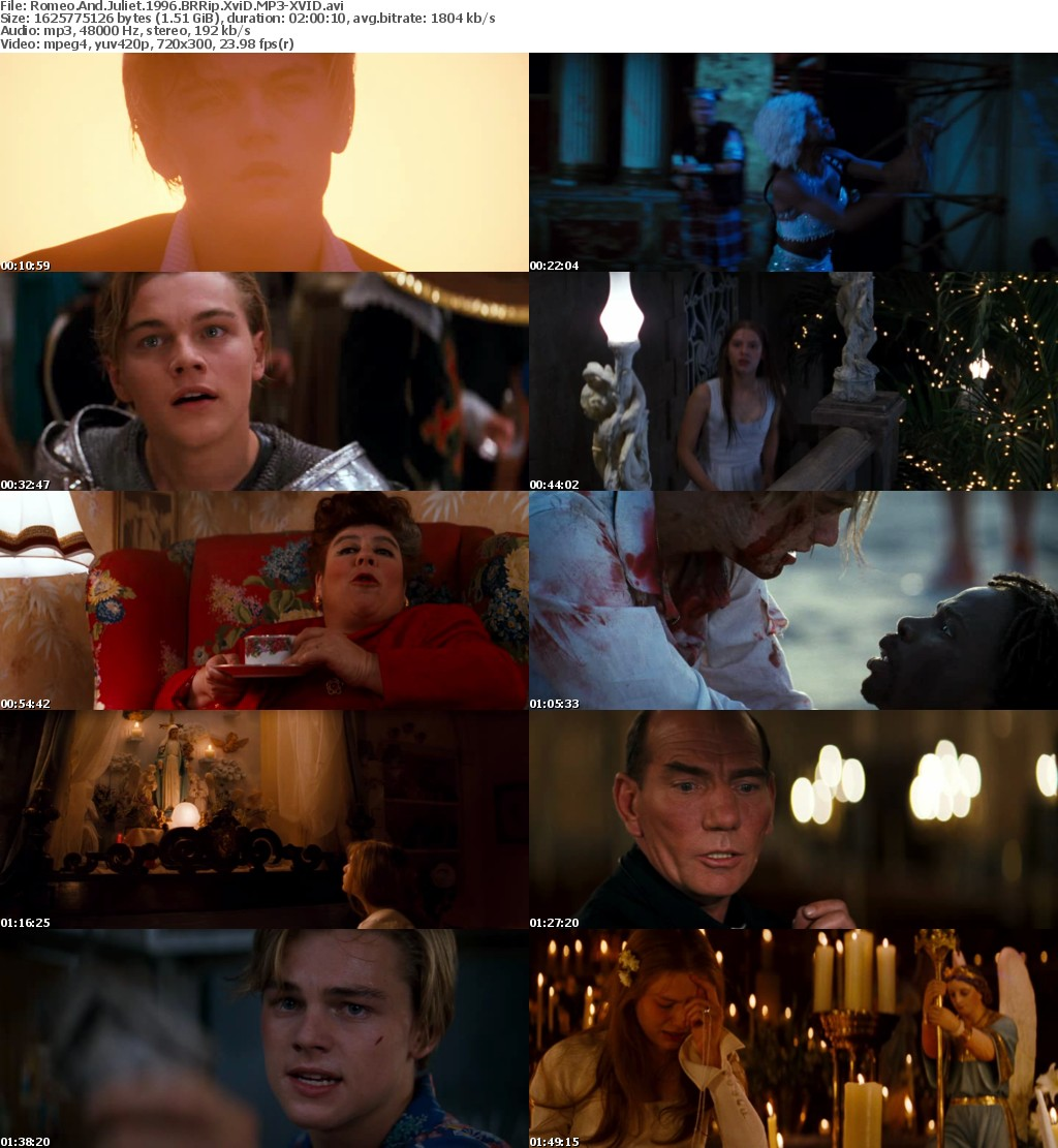 romeo and juliet play vs 1996 In the play, lady capulet is dead at the end but in the 1968 film she is seen at romeo and juliet's funeral 7 in the 1996 film juliet wakes just as romeo takes the poison whereas in the play juliet wakes up when romeo is fully dead.