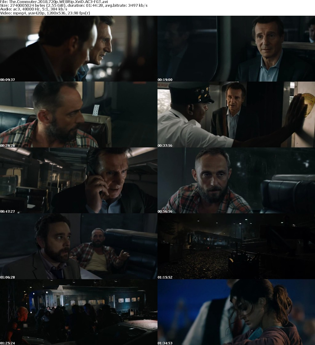 The Commuter 2018 720p WEBRip XviD AC3-FGT