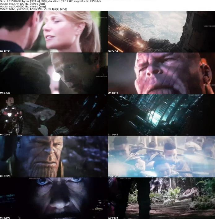 Avengers Infinity War (2018) 720p HDTS Dual Audio [Eng+Hindi] x264 MP3 900MB-MRulz