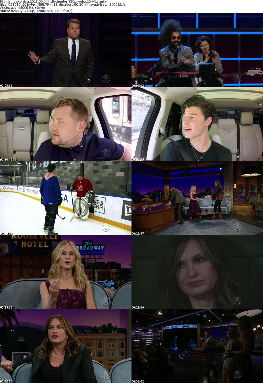 James Corden 2018 06 04 Holly Hunter 720p WEB x264-TBS