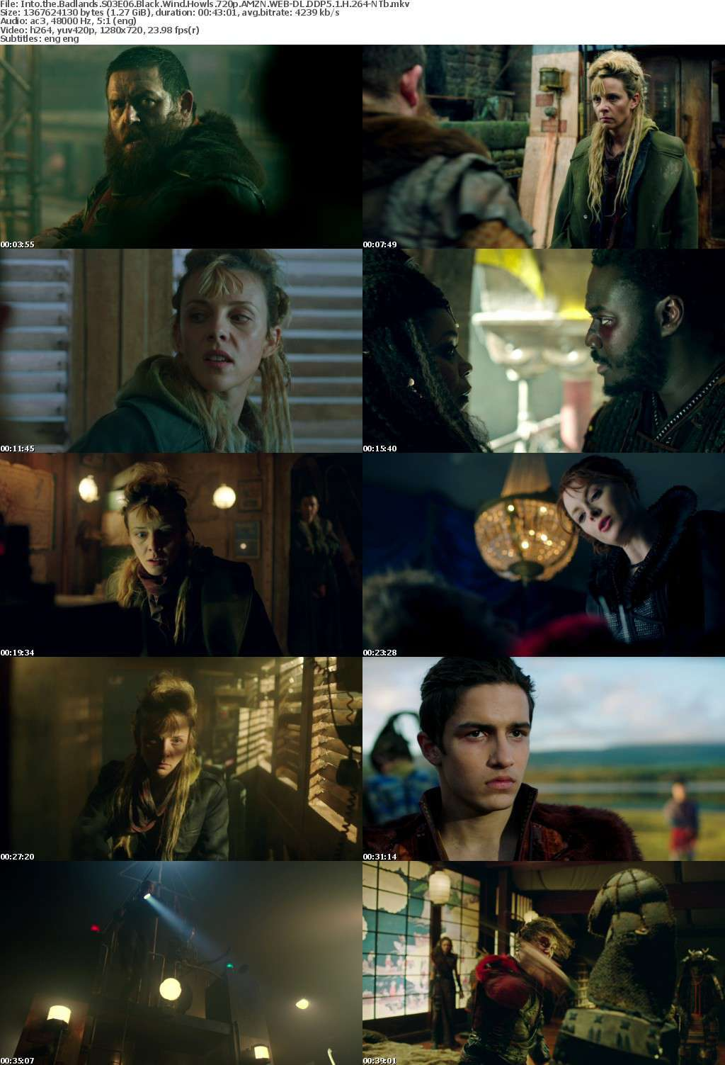 Into the Badlands S03E06 Black Wind Howls 720p AMZN WEB-DL DDP5 1 H 264-NTb