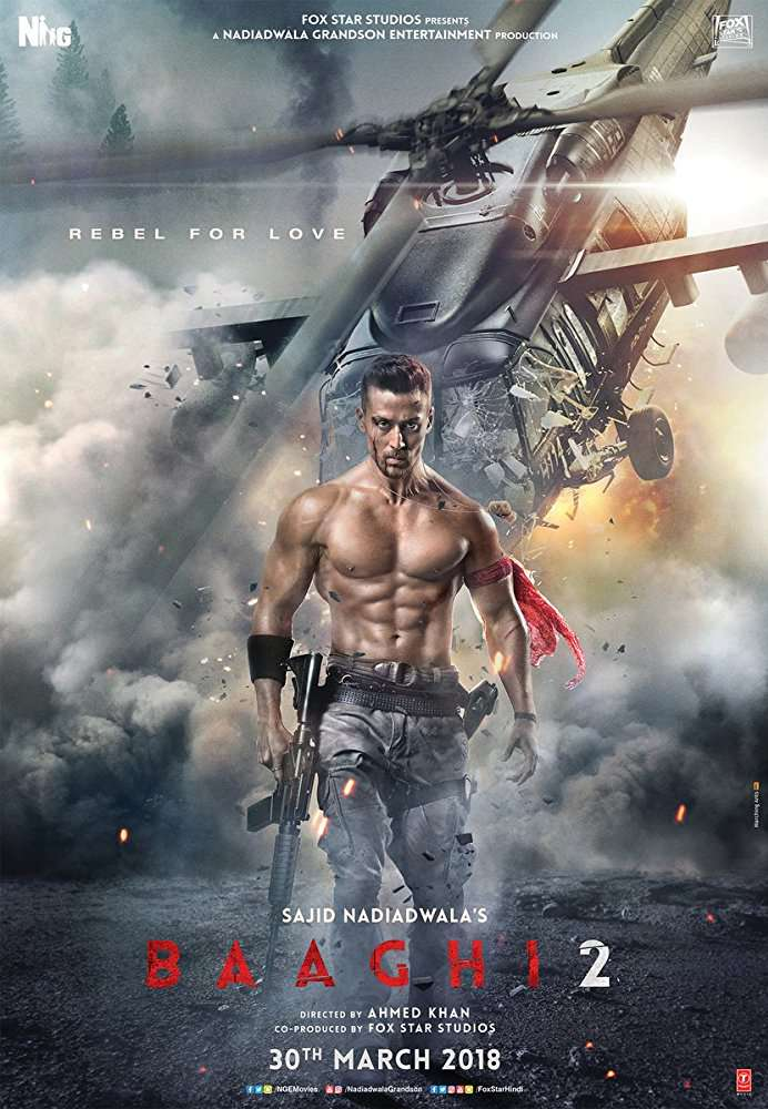 Baaghi 2 (2018) Hindi 720p WEBRip-X264-AC3 5 1-ZiSt