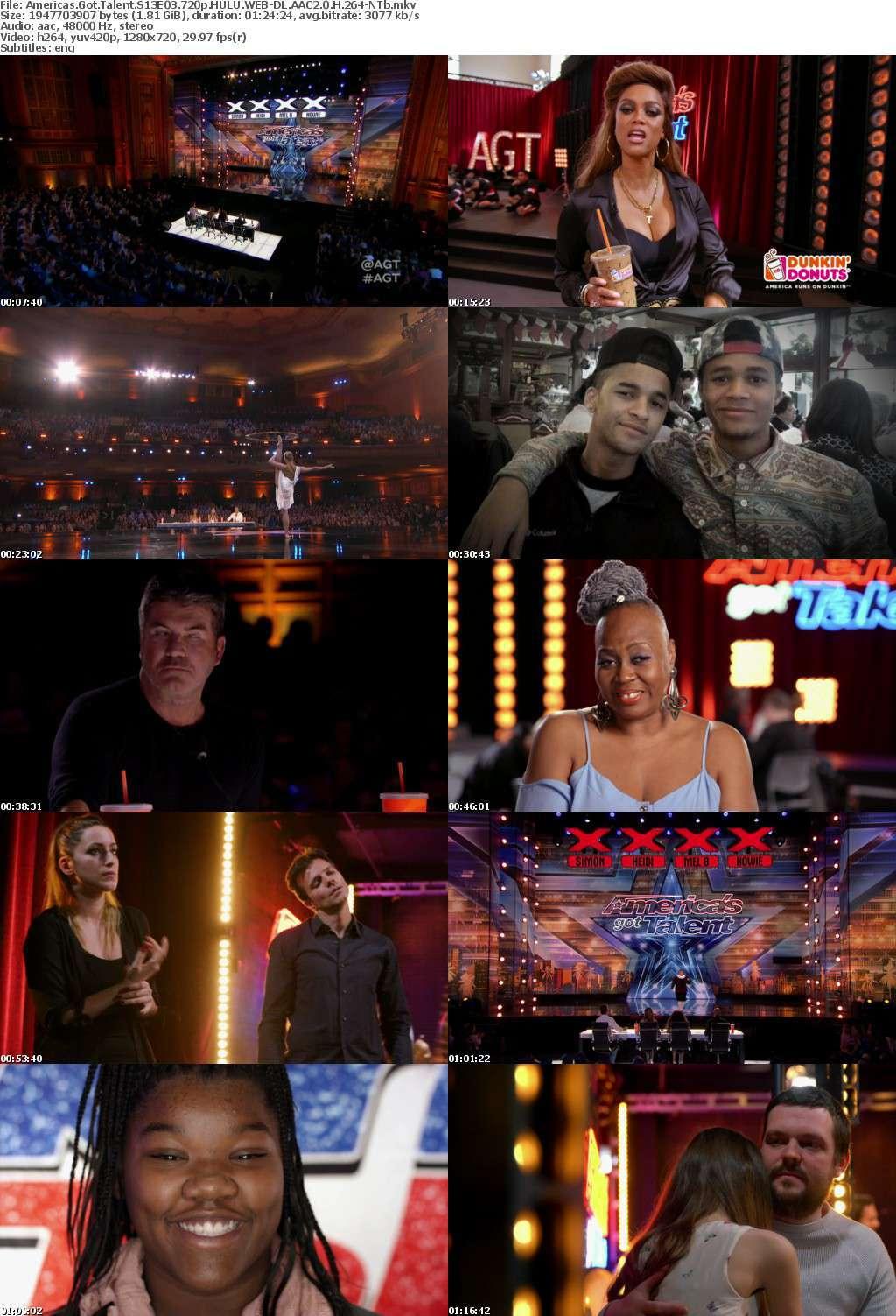 Americas Got Talent S13E03 720p HULU WEB-DL AAC2 0 H 264-NTb
