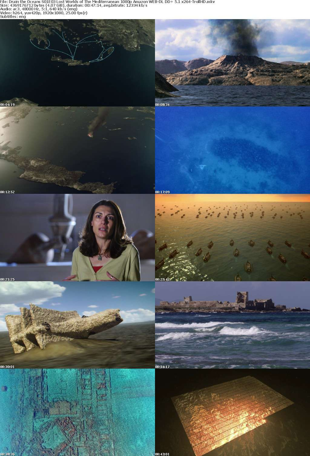 Drain the Oceans S01E03 Lost Worlds of The Mediterranean 1080p Amazon WEB-DL DD+ 5 1 x264-TrollHD