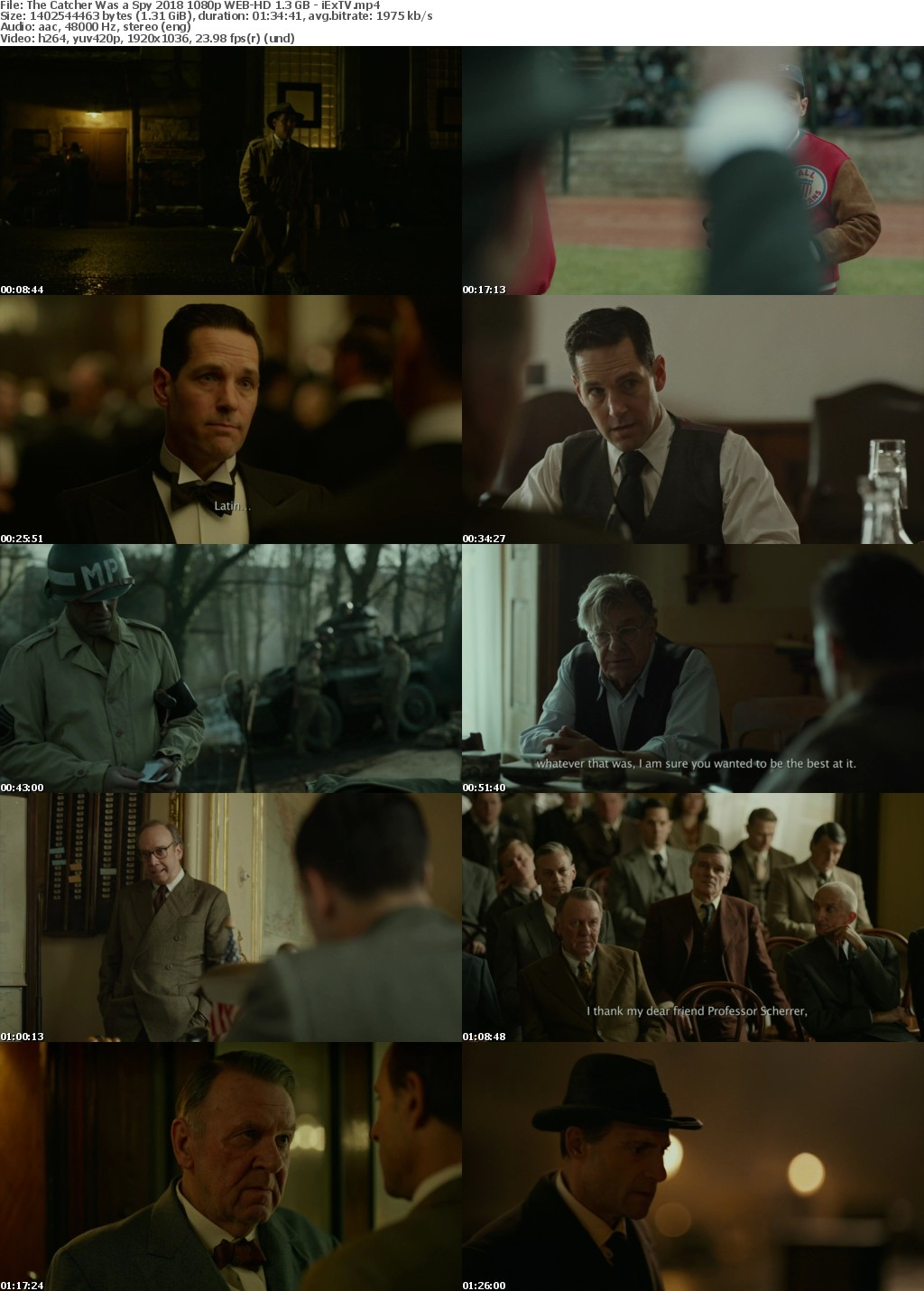 The Catcher Was a Spy (2018) 1080p WEB-HD 1 3 GB - iExTV