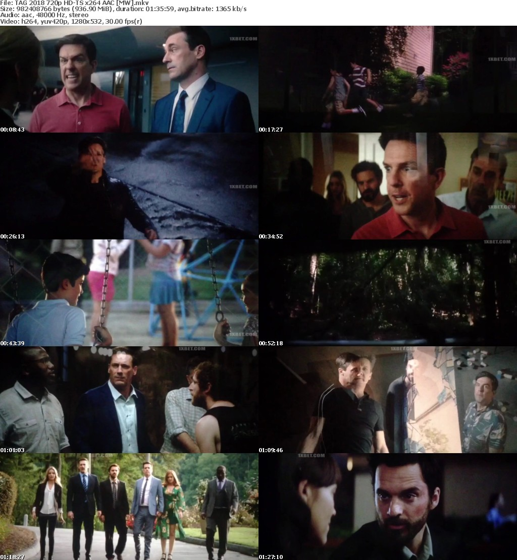 TAG 2018 720p HD-TS x264 AAC MW