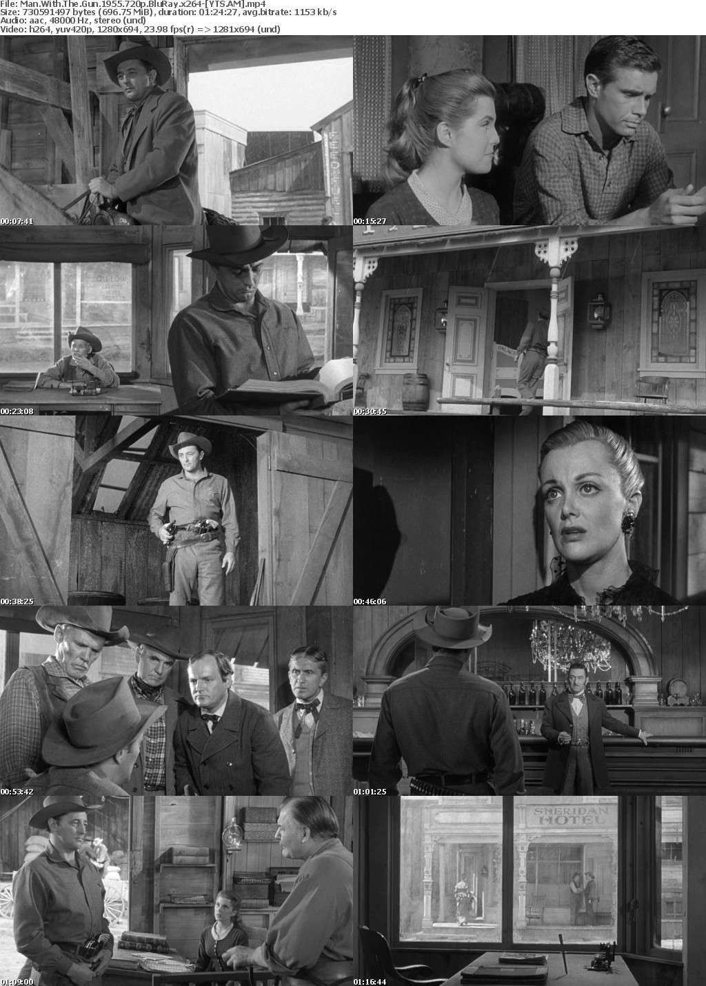 Man with the Gun (1955) [BluRay] [720p] YIFY
