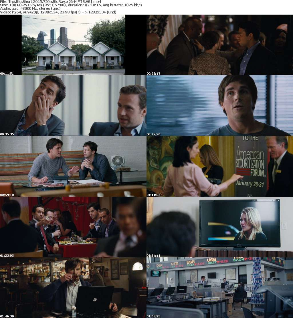 The Big Short (2015) [BluRay] [720p] YIFY