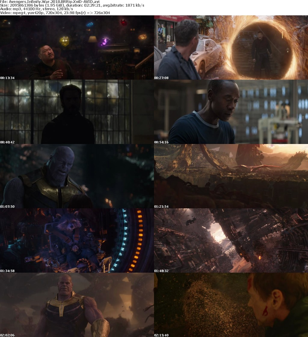Avengers Infinity War (2018) BRRip XviD-AVID