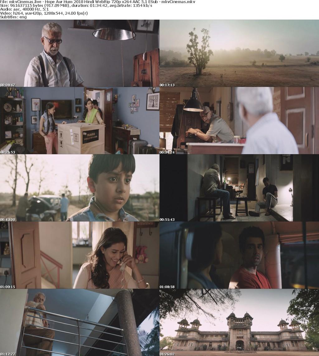 Hope Aur Hum 2018 Hindi WebRip 720p x264 AAC 5 1 ESub - mkvCinemas