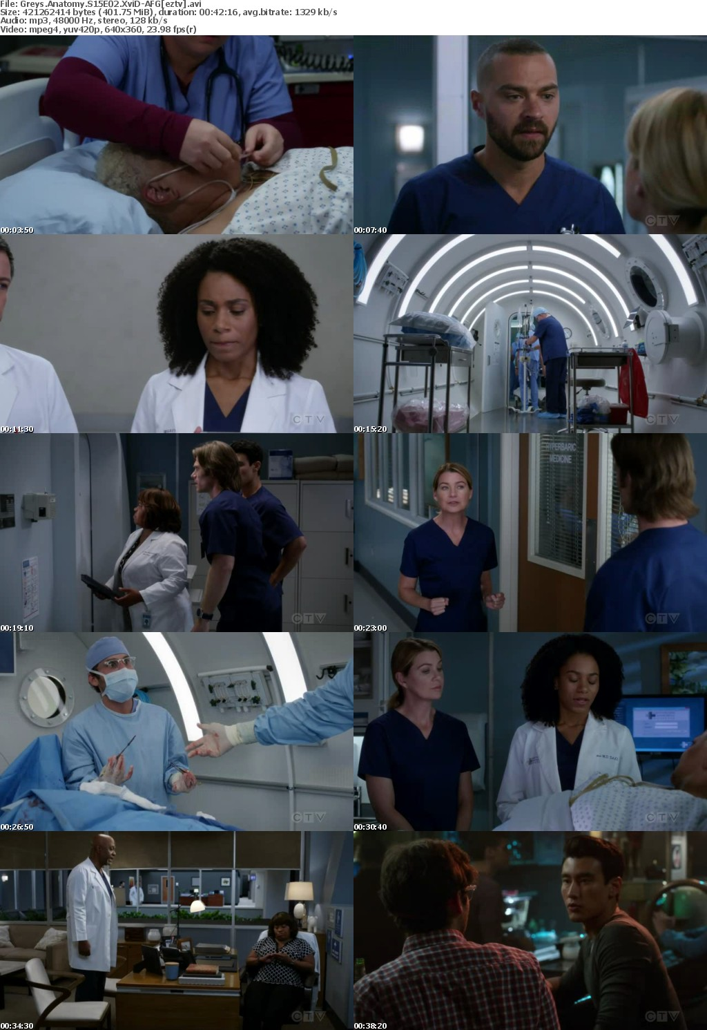 Greys Anatomy S15E02 XviD-AFG