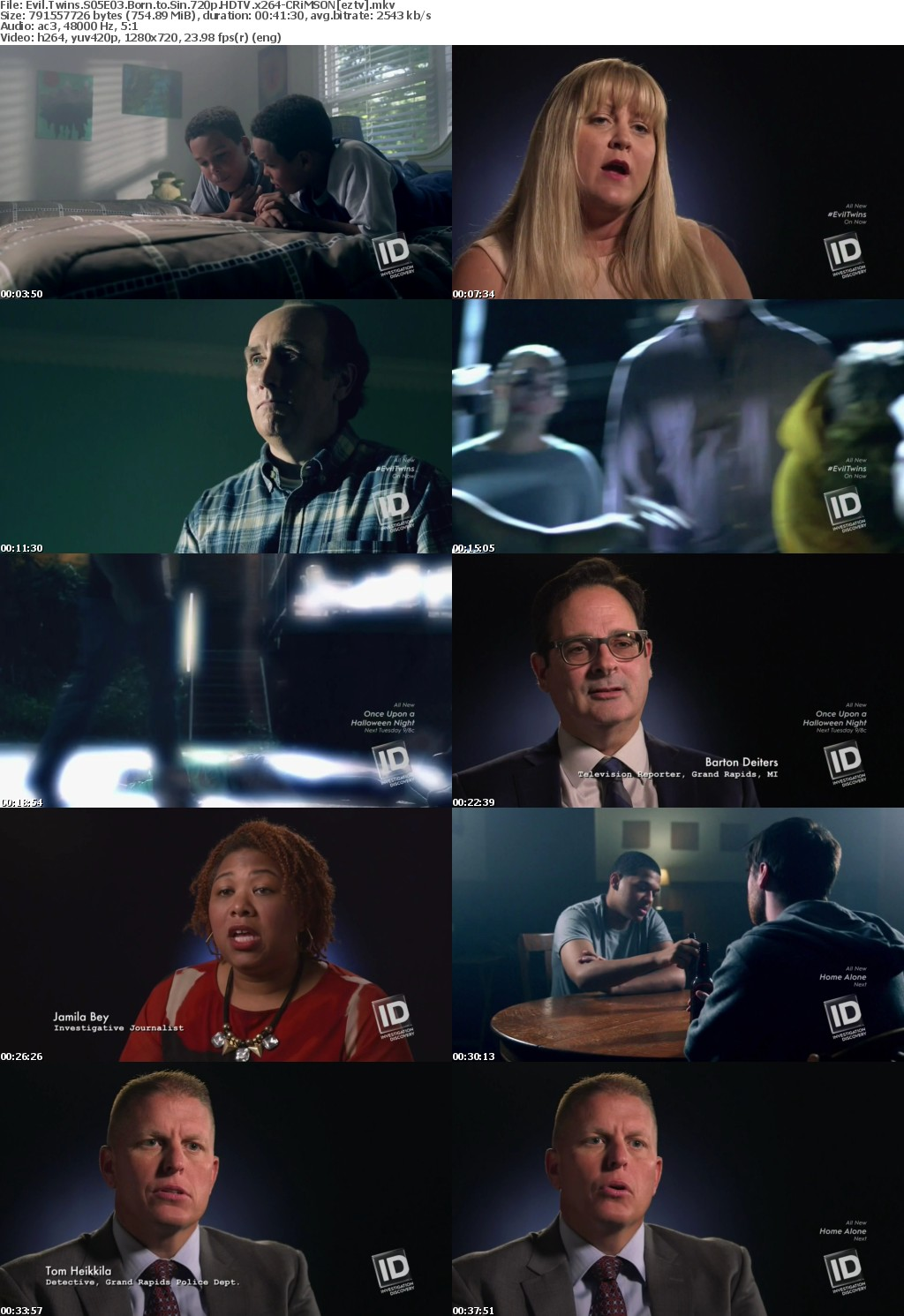 Evil Twins S05E03 Born to Sin 720p HDTV x264-CRiMSON