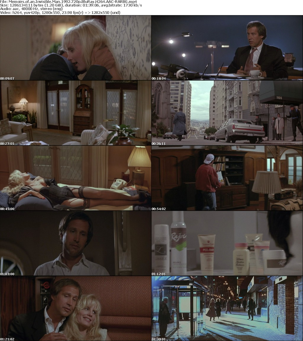 Memoirs of an Invisible Man (1992) 720p BluRay H264 AAC-RARBG