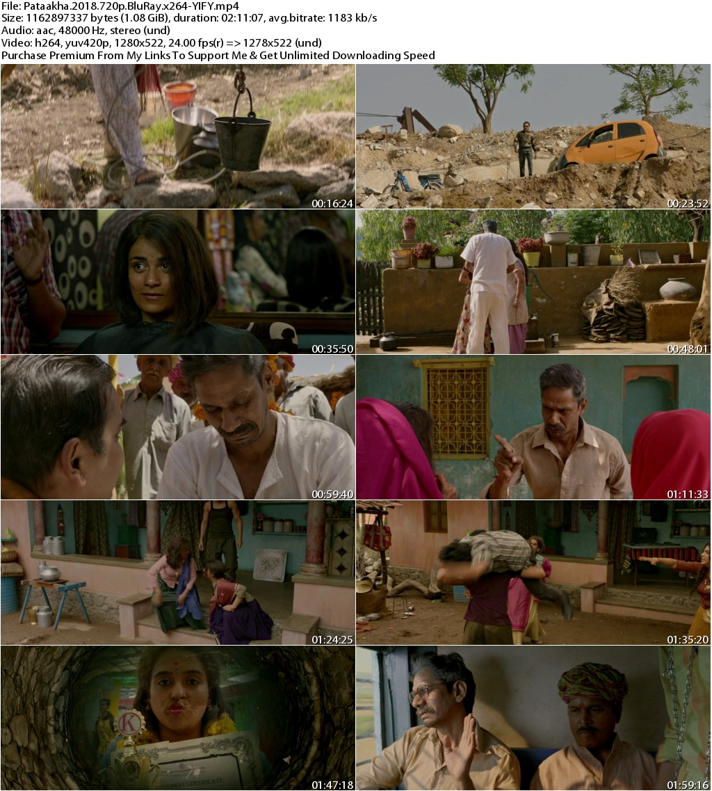 Pataakha (2018) Hindi 720p BluRay x264-YIFY