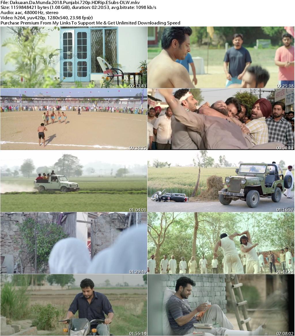 Dakuaan Da Munda (2018) Punjabi 720p HDRip ESubs-DLW