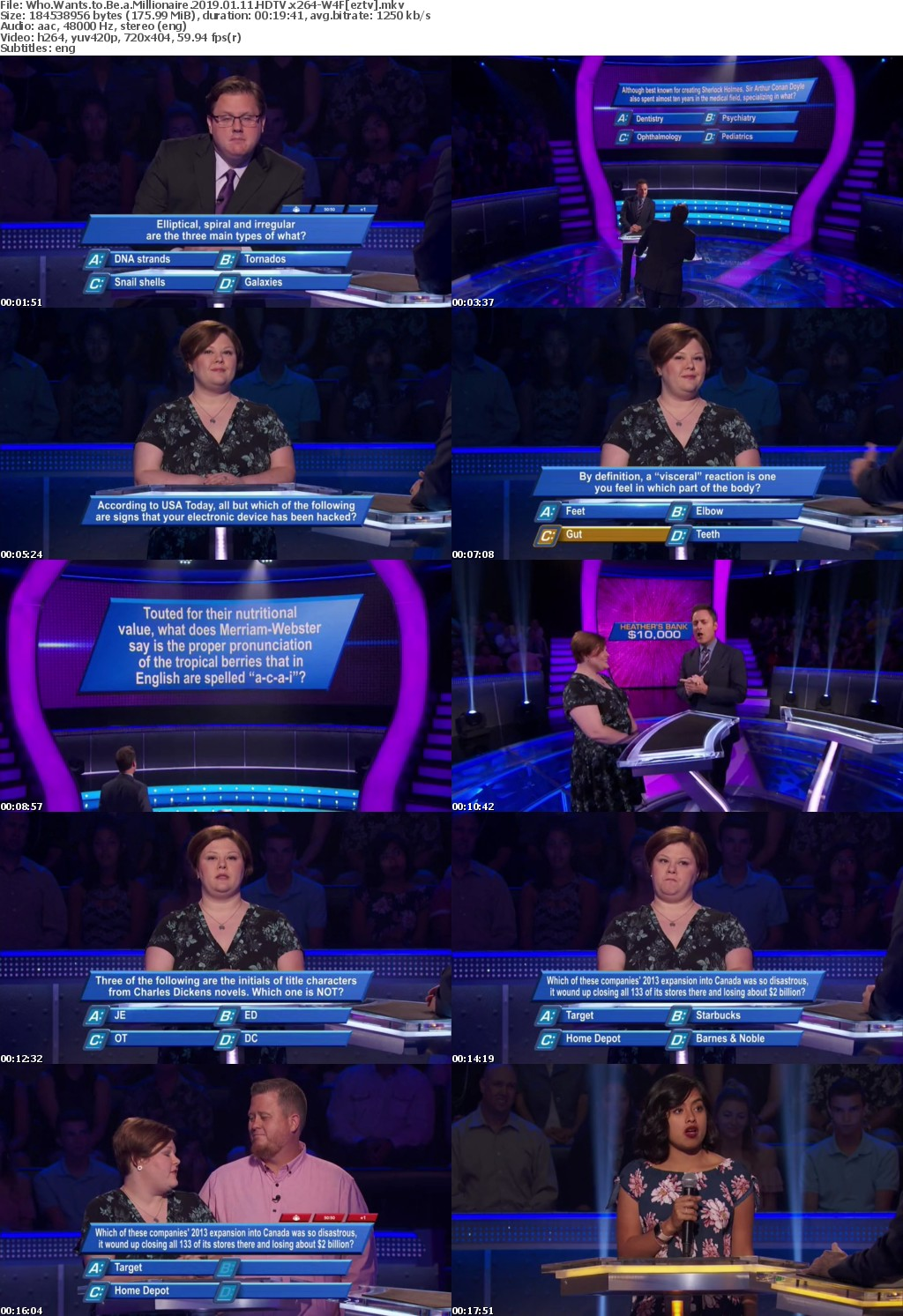 Who Wants to Be a Millionaire 2019 01 11 HDTV x264-W4F