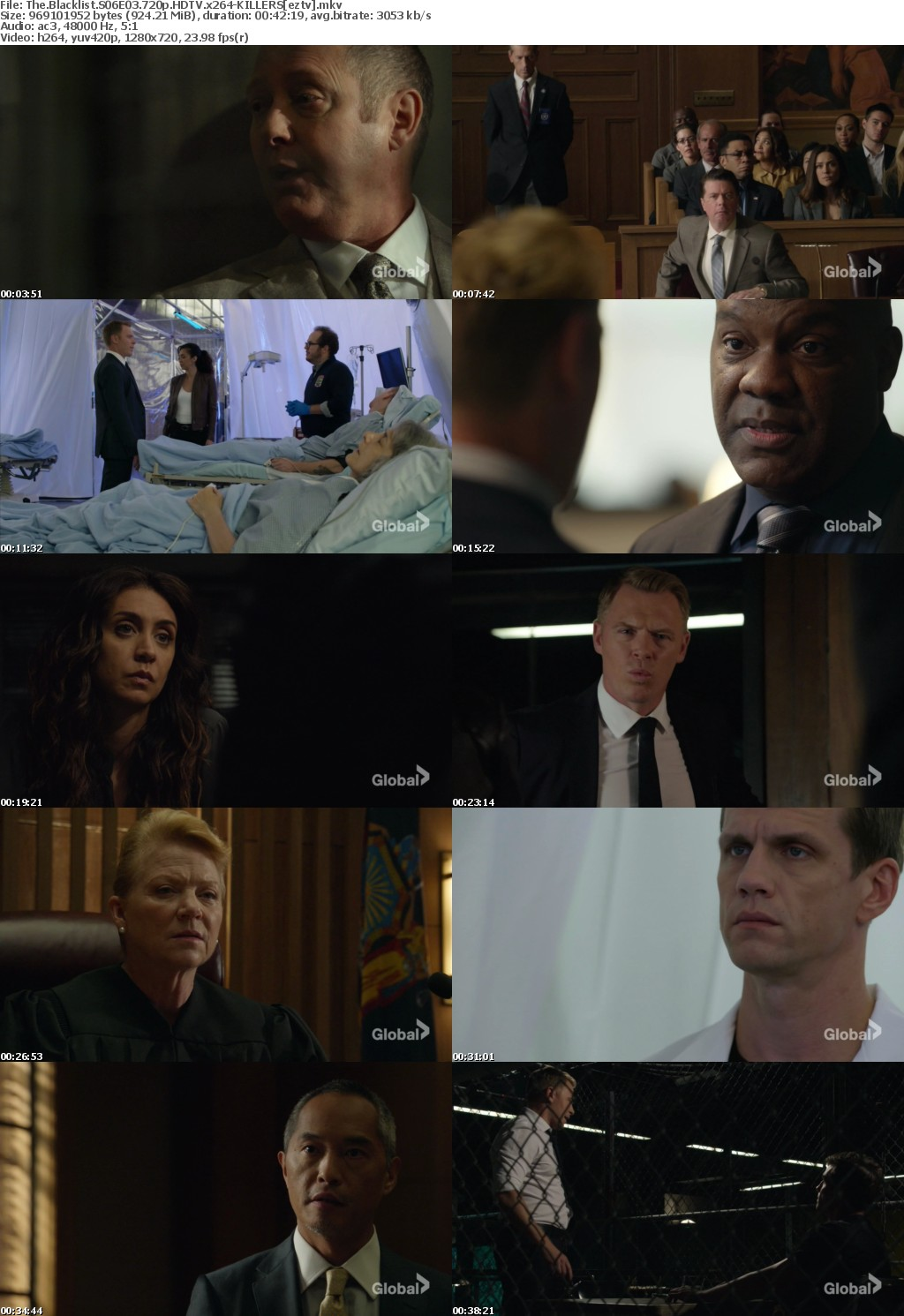 The Blacklist S06E03 720p HDTV x264-KILLERS
