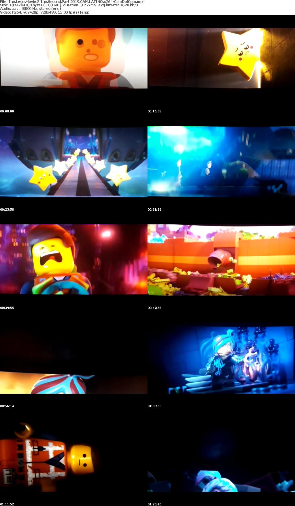 The Lego Movie 2 The Second Part (2019) CAM LATINO x264-CamDotCom