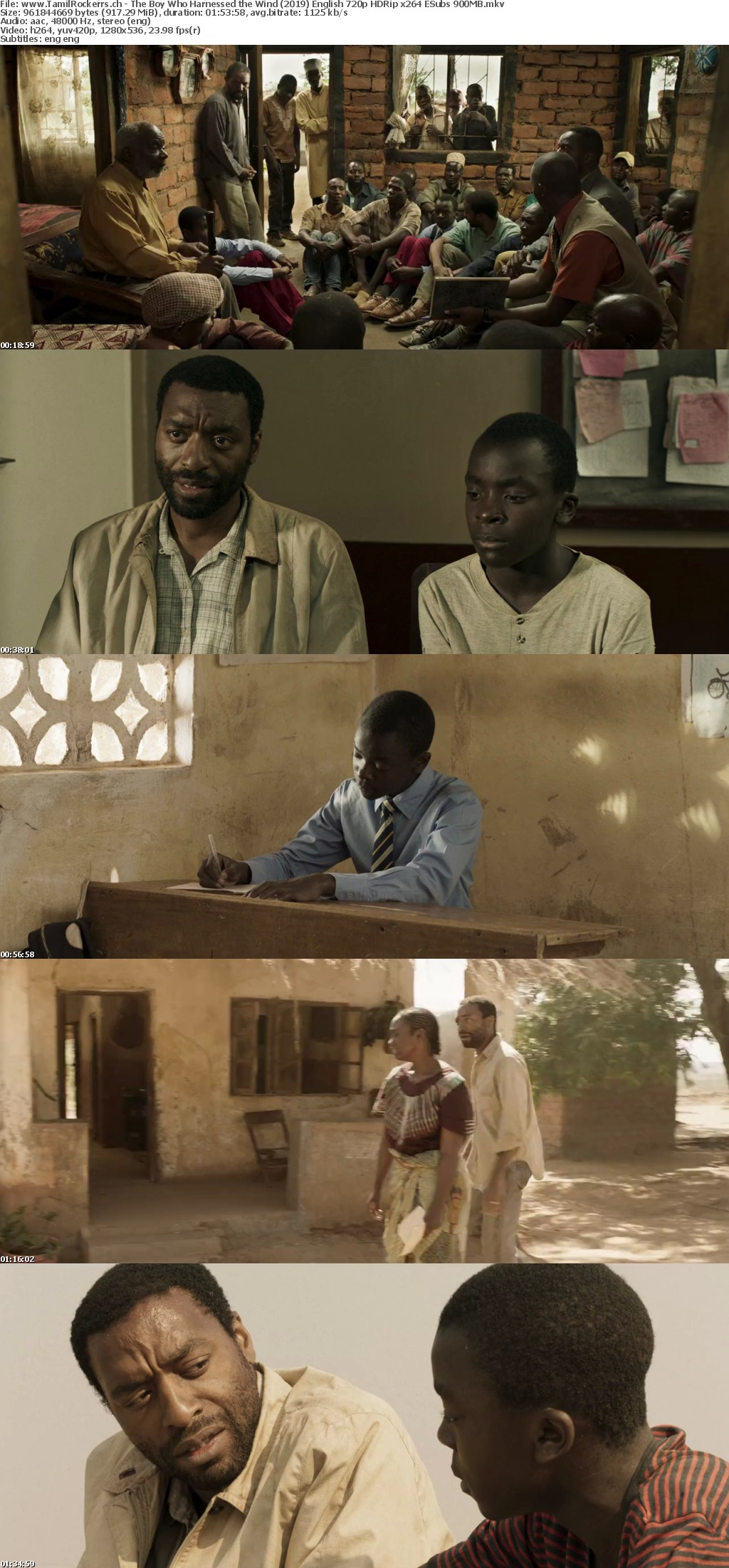 The Boy Who Harnessed the Wind 2019 English 720p HDRip x264 ESubs 900MB