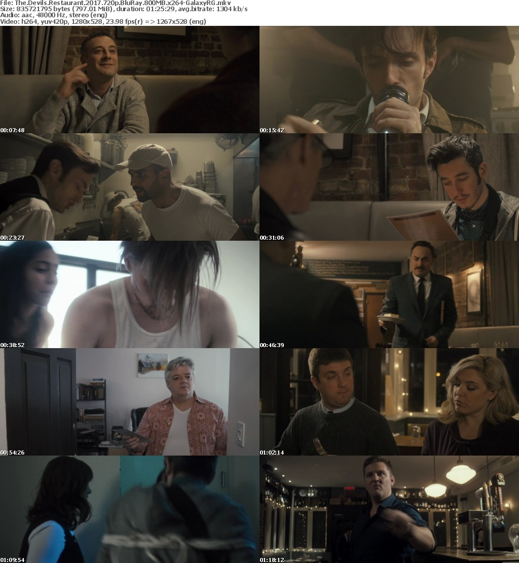 The Devils Restaurant (2017) 720p BluRay 800MB x264-GalaxyRG