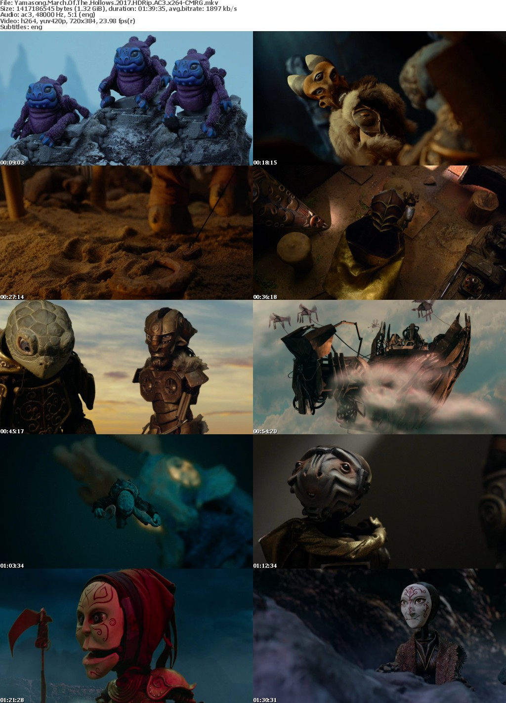 Yamasong March Of The Hollows (2017) HDRip AC3 x264-CMRG