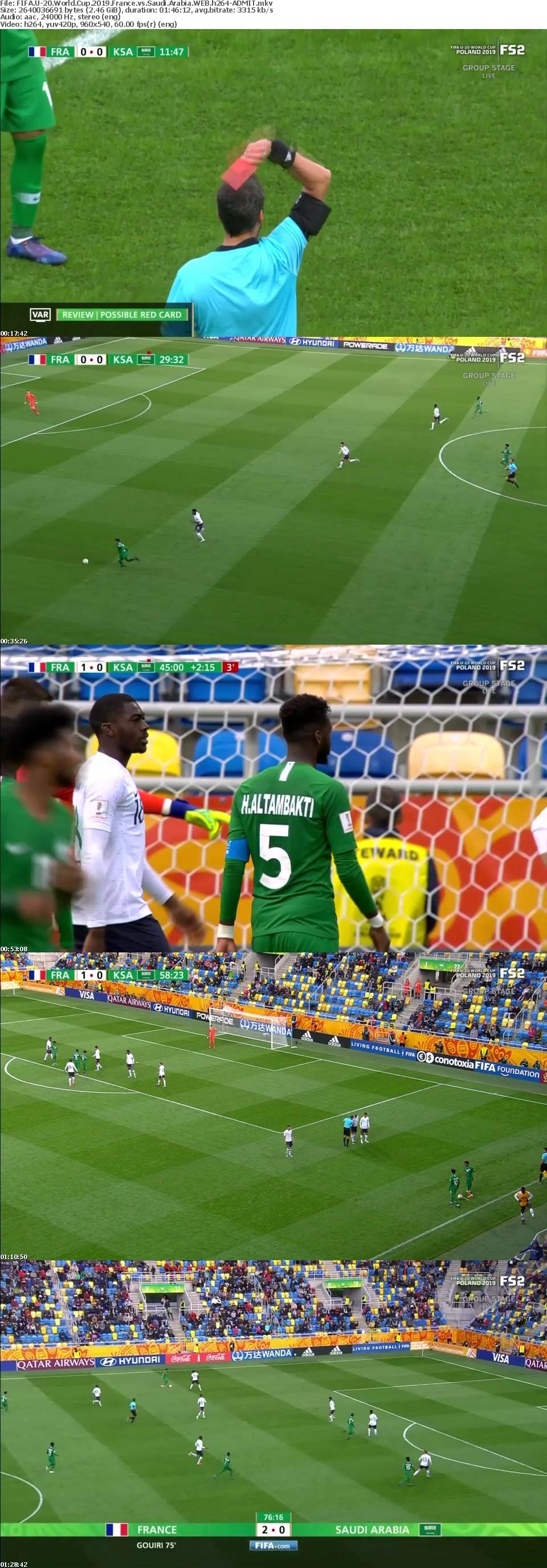 FIFA U-20 World Cup 2019 France vs Saudi Arabia WEB h264-ADMIT