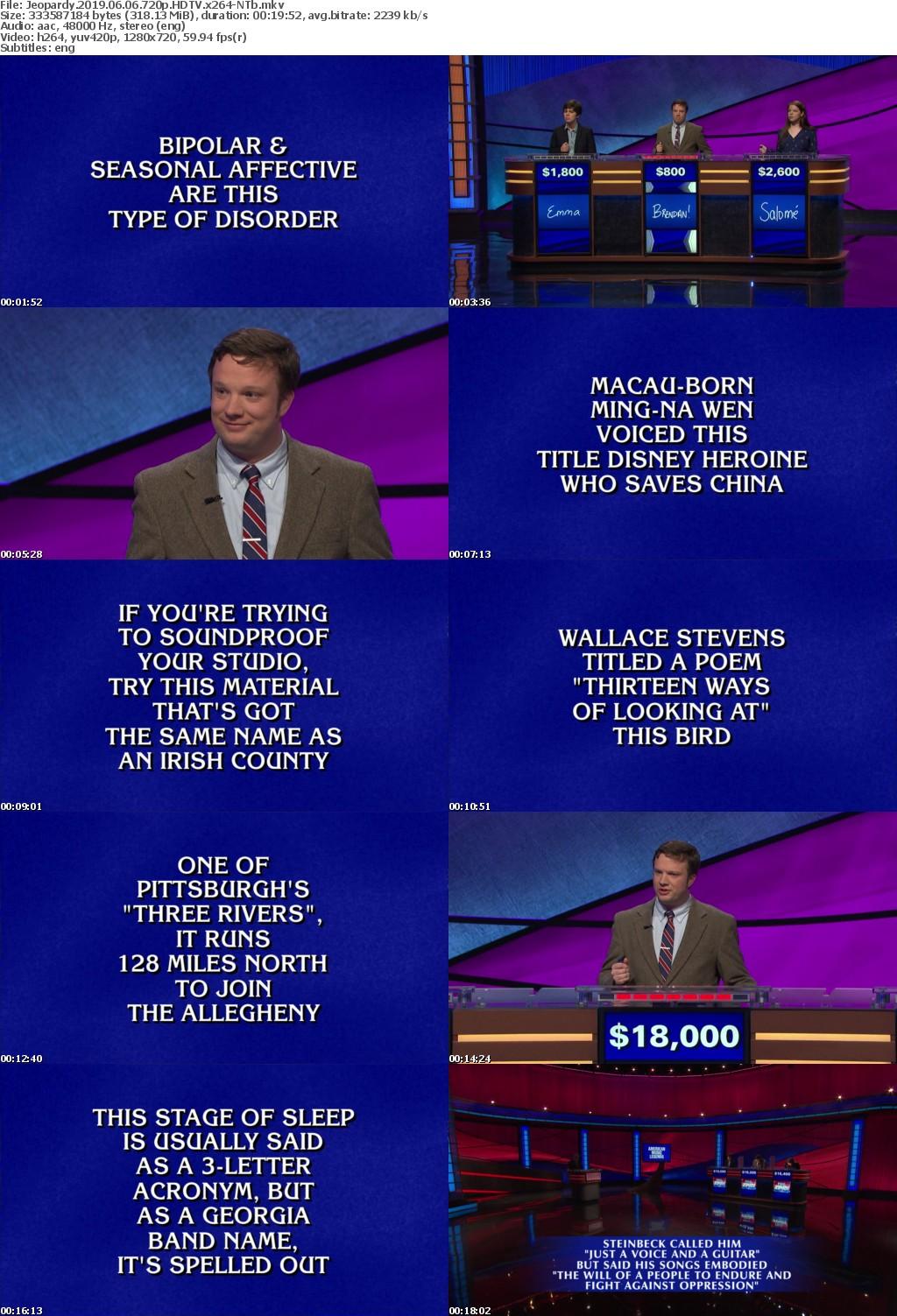 Jeopardy 2019 06 06 720p HDTV x264-NTb