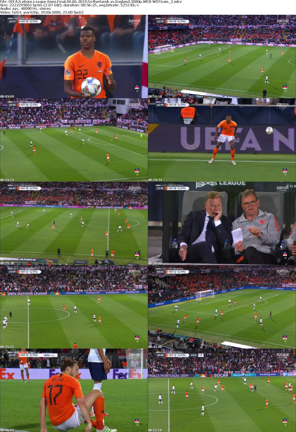 UEFA Nations League Semi Final 06 06 2019 Netherlands vs England 1080p WEB