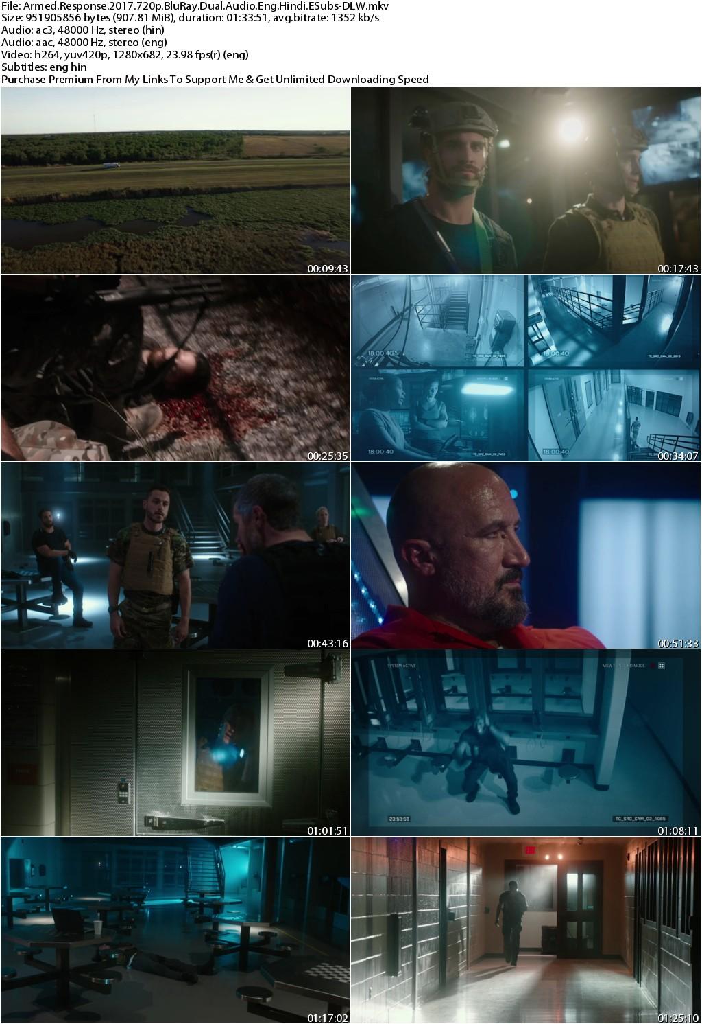 Armed Response (2017) 720p BluRay Dual Audio Eng Hindi ESubs-DLW