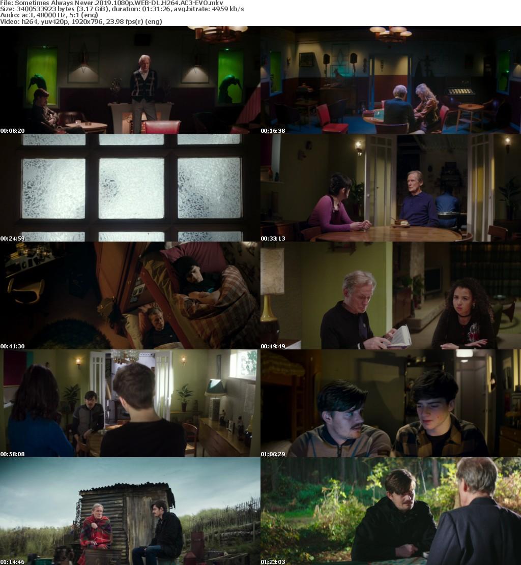 Sometimes Always Never (2019) 1080p WEB DL H264 AC3 EVO