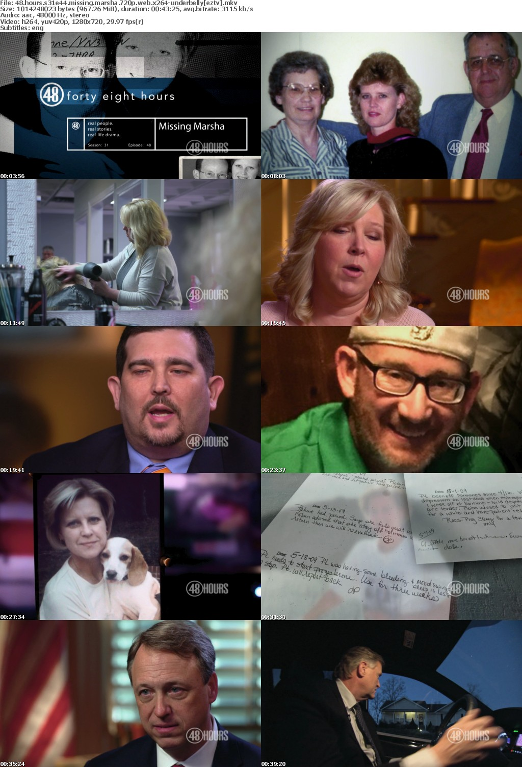 48 Hours S31E44 Missing Marsha 720p WEB x264 UNDERBELLY
