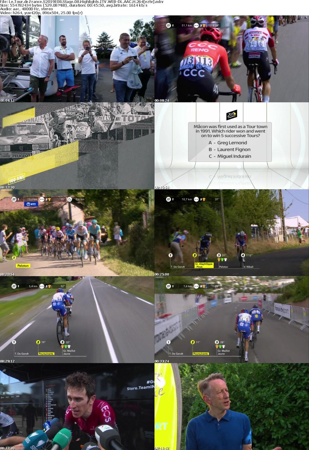 Le Tour de France S2019E08 Stage 08 Highlights ITV WEB DL AAC H 264