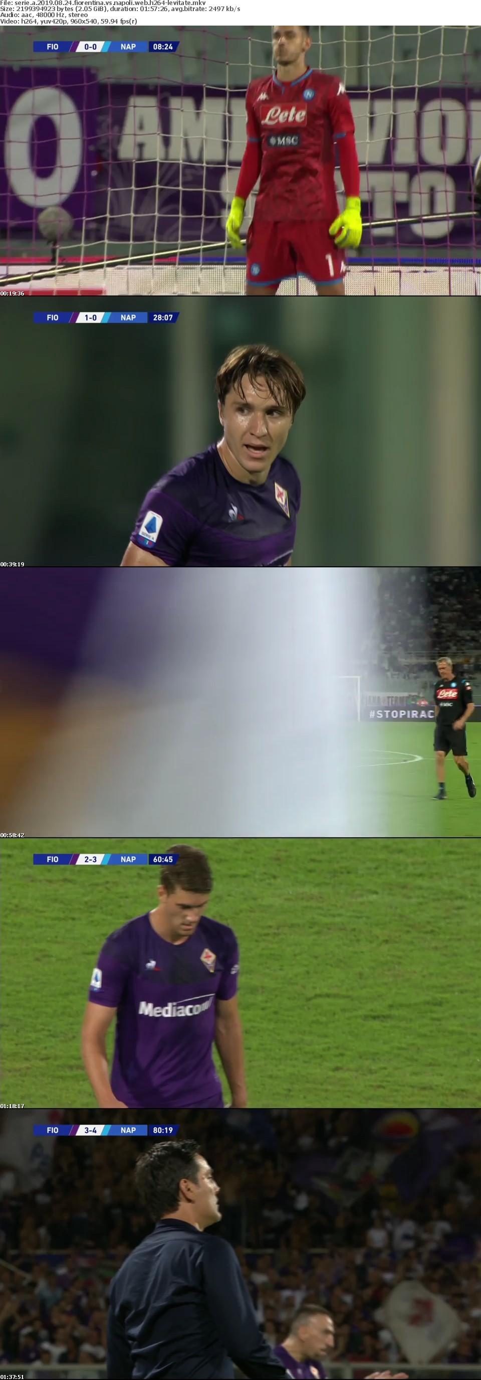 Serie A 2019 08 24 Fiorentina vs Napoli WEB H264-LEViTATE