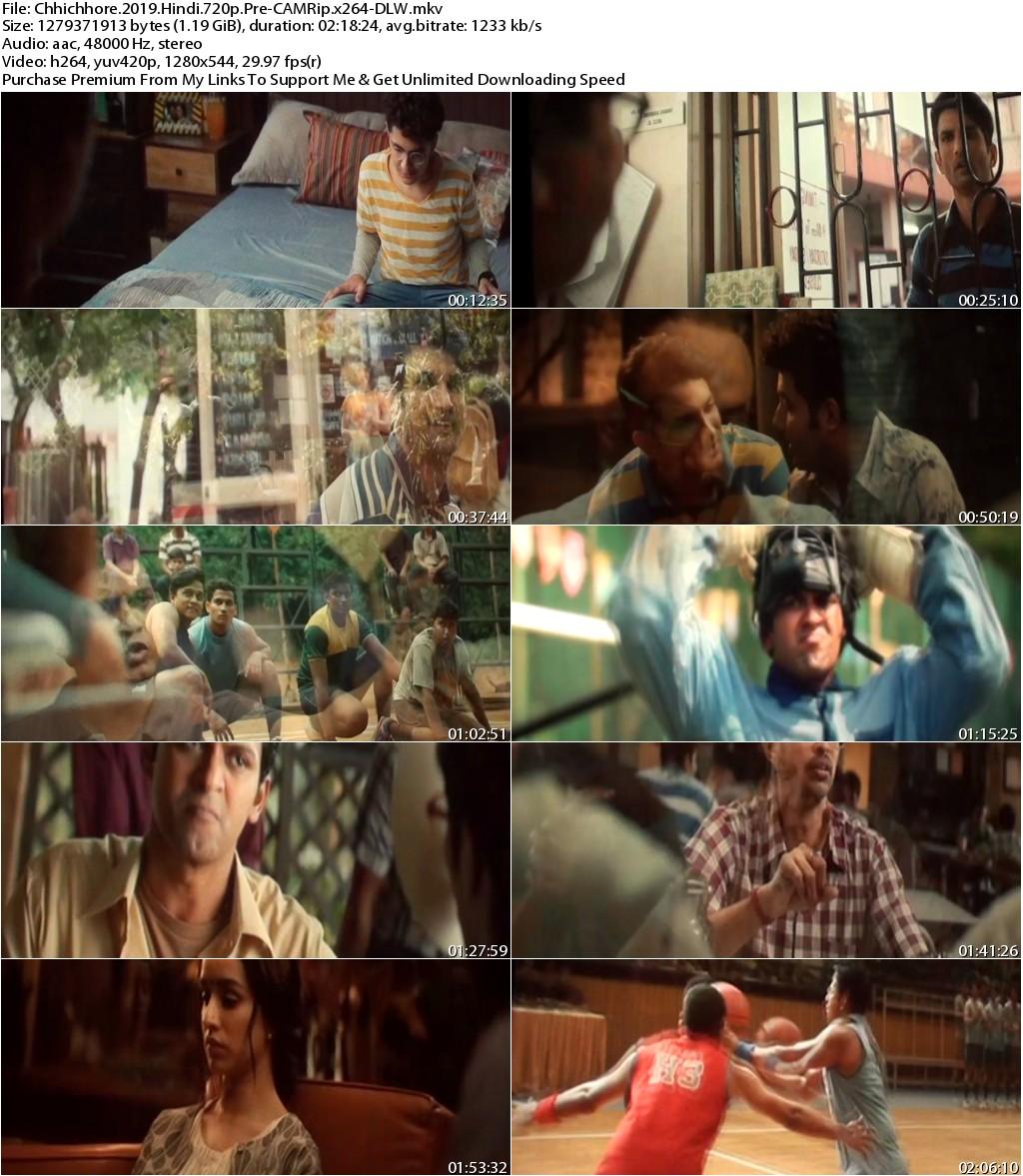 Chhichhore (2019) Hindi 720p Pre-CAMRip x264-DLW