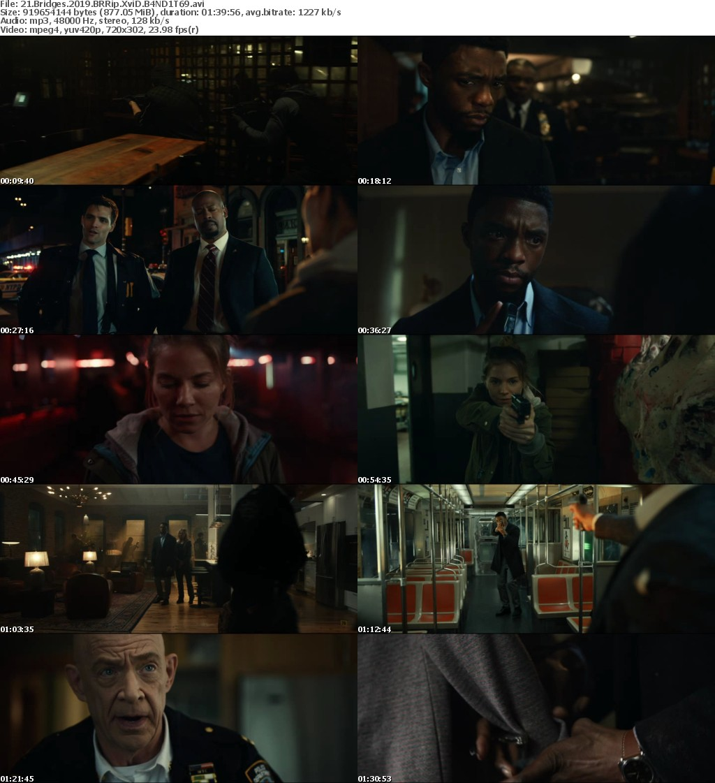 21 Bridges (2019) BRRip XviD B4ND1T69