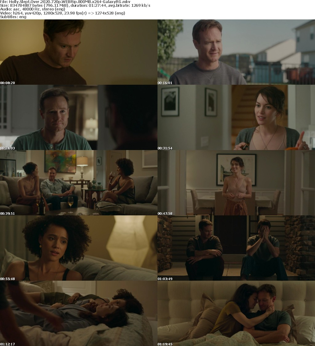 Holly Slept Over (2020) 720p WEBRip 800MB x264-GalaxyRG