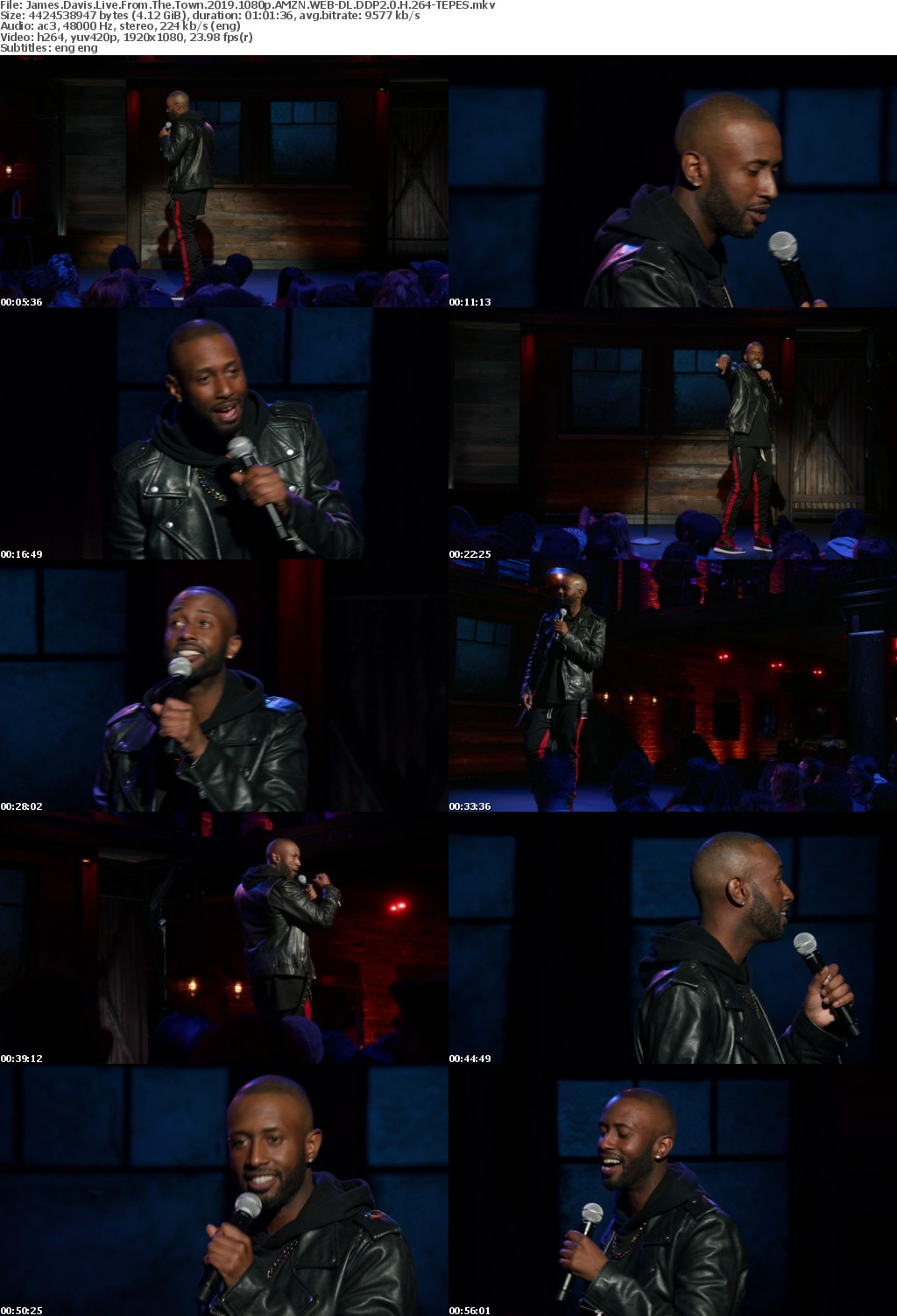 James Davis Live From The Town (2019) 1080p AMZN WEBRip DDP2.0 x264-TEPES