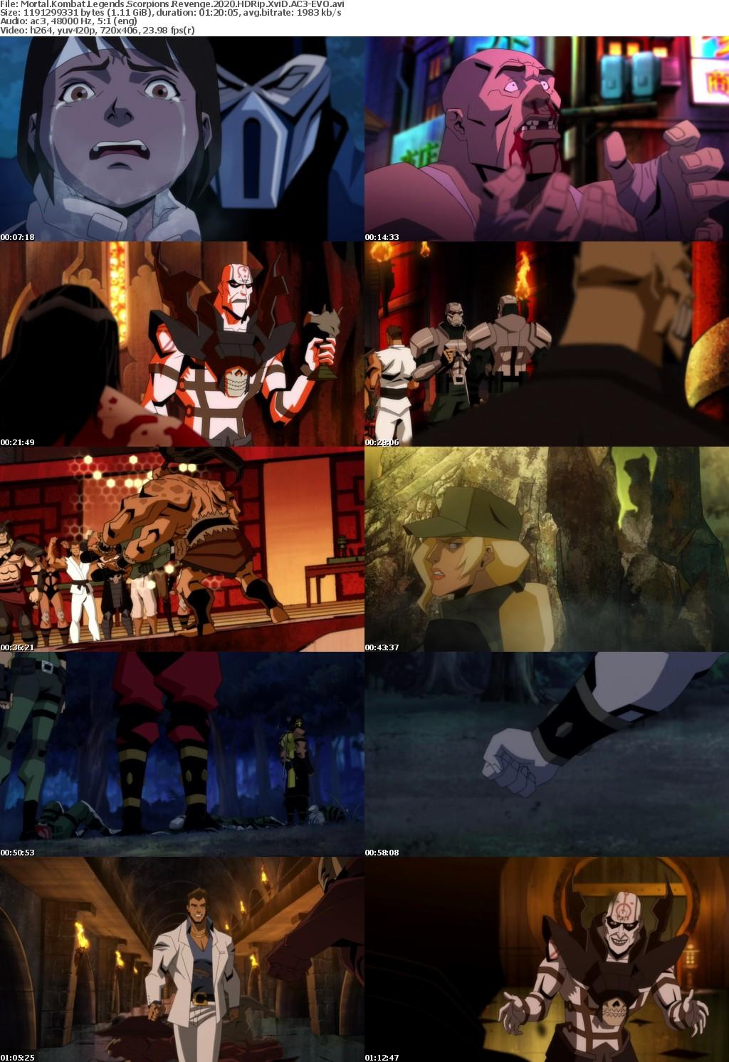 Mortal Kombat Legends Scorpions Revenge (2020) HDRip XviD AC3-EVO