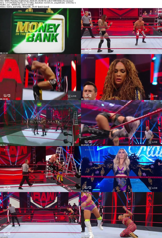 WWE Monday Night Raw 2020 04 20 HDTV x264-NWCHD
