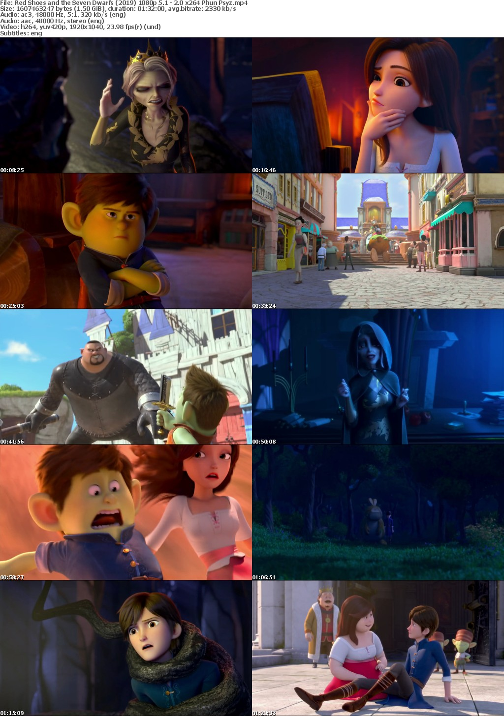 Red Shoes and the Seven Dwarfs (2019) 1080p 5 1 - 2 0 x264 Phun Psyz