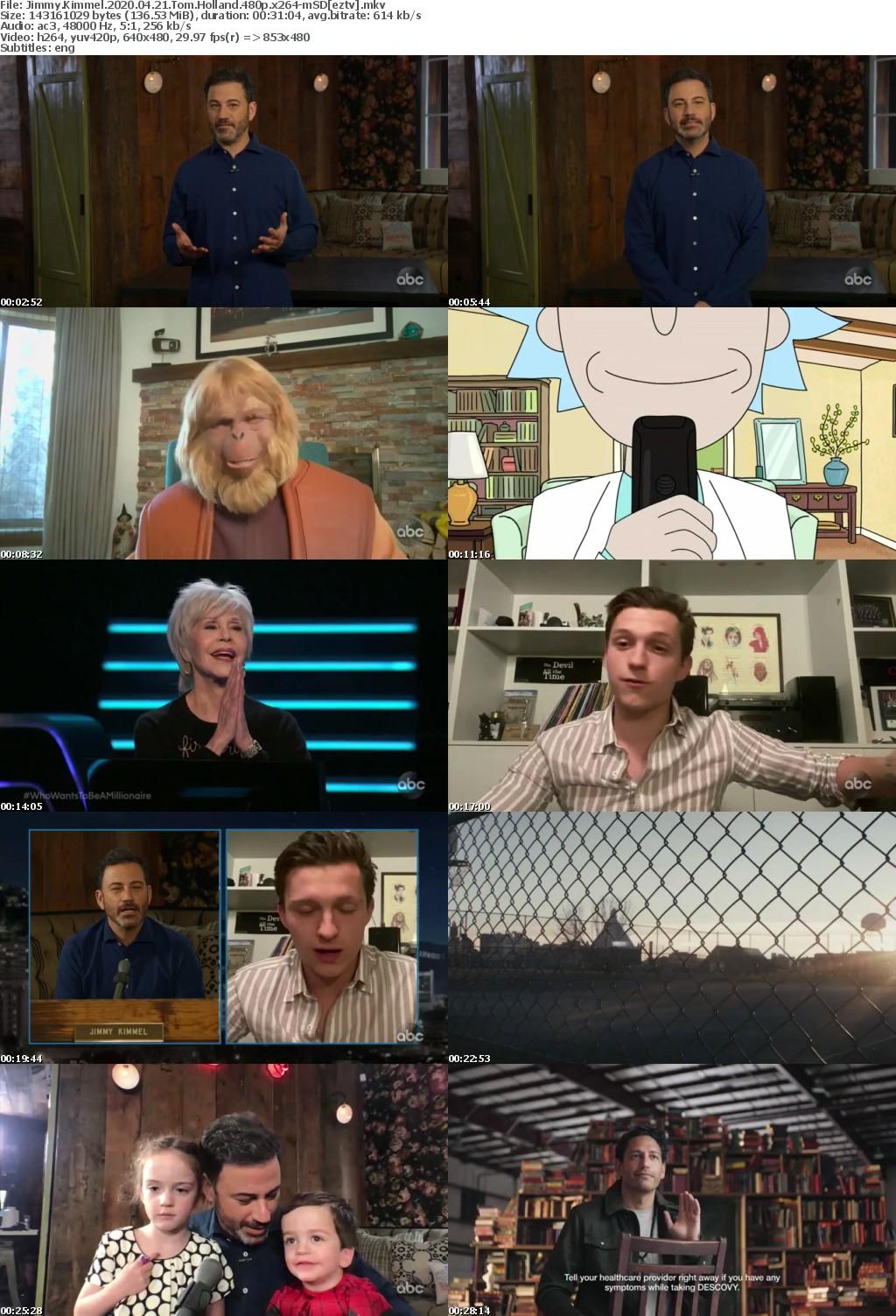 Jimmy Kimmel 2020 04 21 Tom Holland 480p x264-mSD